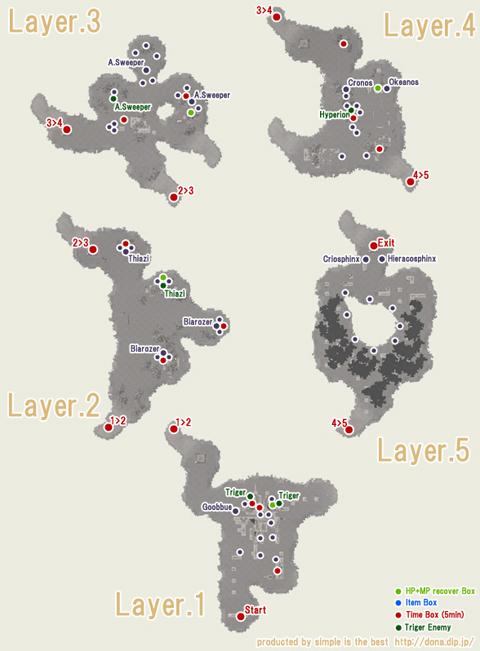 アポリオンNEの地図です、なんとなく配置OK?動くのもいるのは内緒です^^