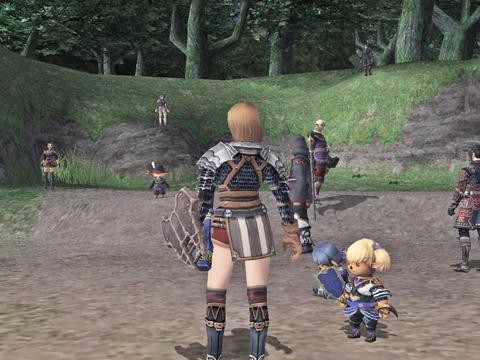 裏ウィンダスに突入する前に集まったら、変な所にいる人が2人です!