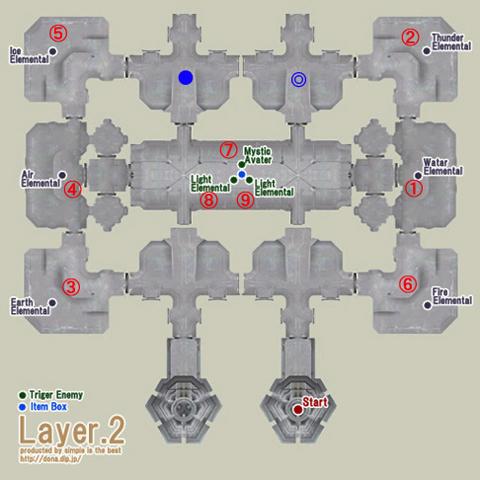 中央塔2階の配置図です、番号順に倒していきます^^