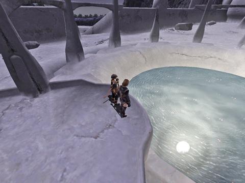 満月が池に映ってきれいですよね!