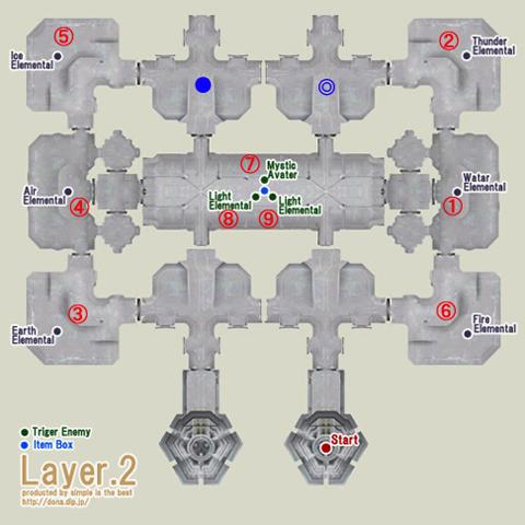テメナス中央塔2階の配置図です、番号順にいきます!