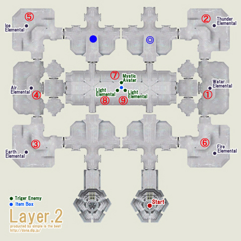 テメナス中央塔2階の配置図ですよ!