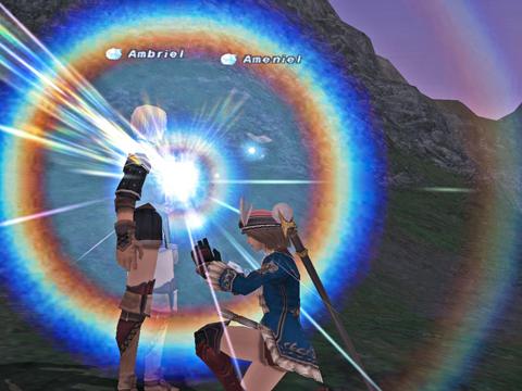 光クリを届けてくれたアンブリエルの胸が輝きます!