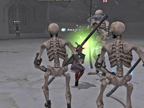 骨ミッションです、変なとこにAmbrielががが!後でタコ殴りにあいます^^