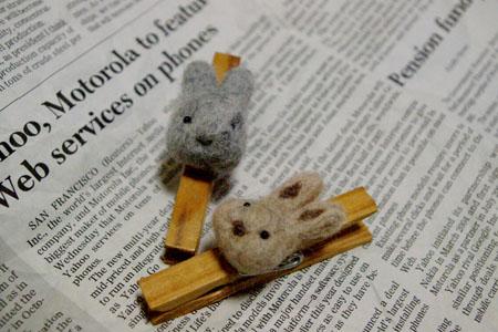 ウサギの洗濯バサミ