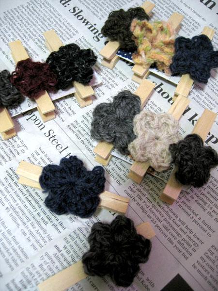 毛糸洗濯バサミ