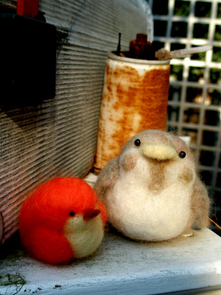 羊毛フェルト小鳥2