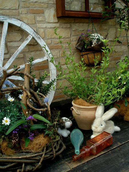 フェルトの動物とお庭