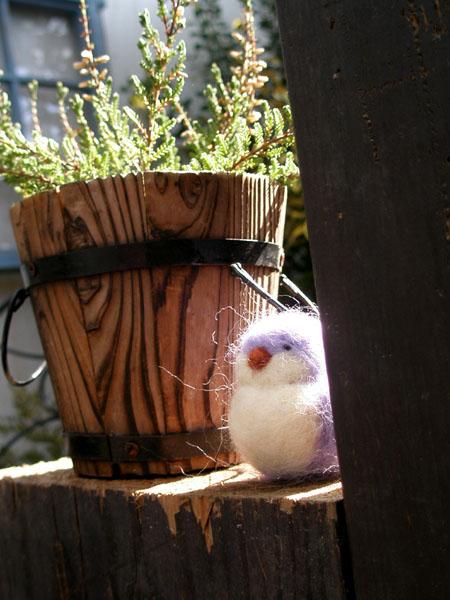 フェルトの小鳥