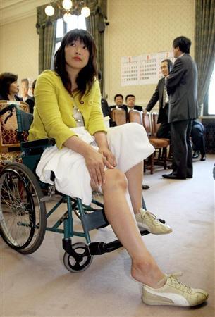 車椅子でアピール