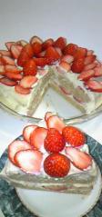 華やかイチゴのベジケーキカット