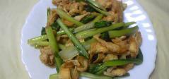 小松菜と油揚げのしょうゆマヨ炒め