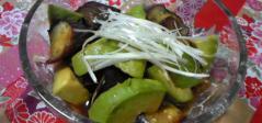 アボカドと茄子のレモン醤油マリネ