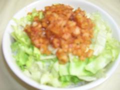 ベジタコライス(蓮根挽肉みたいなあん)