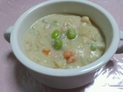 野菜だけのチャウダー風スープ