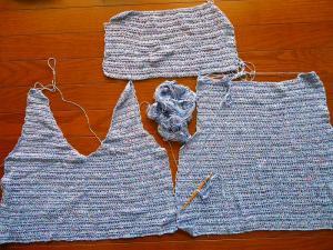 いつできるか?編みかけセーター