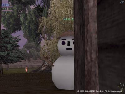 かすみん雪だるま