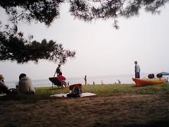 海辺でゆっくり
