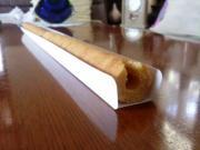 このあと箸を押し当てて固めてみました