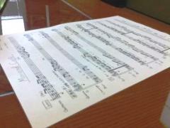 新調した楽譜(三代目)
