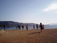 1年前の1月下旬、海に遊びに行きました