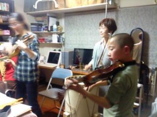 練習もバイオリンも久しぶり
