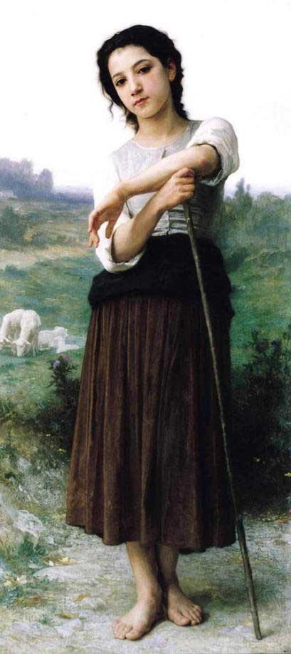 ブグロー【立てる若い羊飼い】