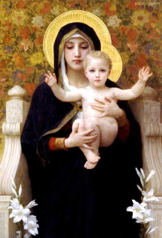 ブグロー【百合の聖母マリア】