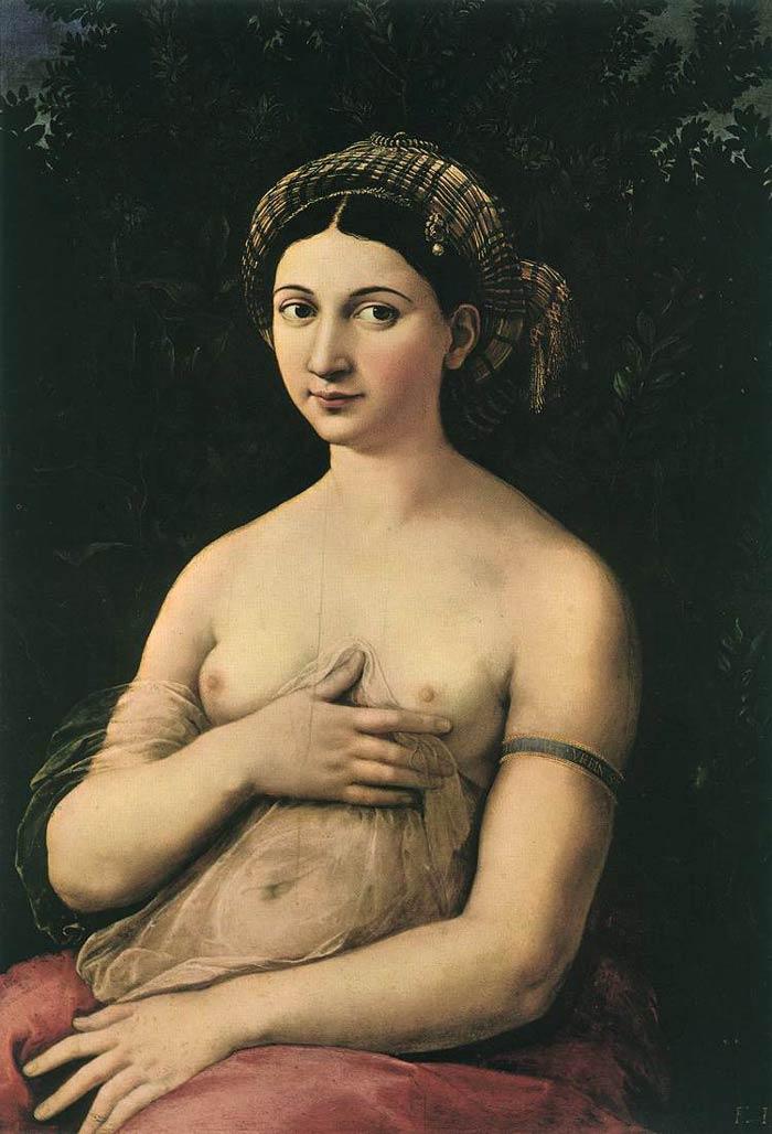 若い婦人の肖像(ラ・フォルナリーナ)