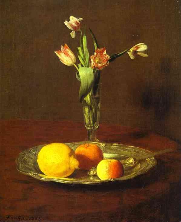アンリ・ファンタン=ラトゥール【レモン、りんご、チューリップ】