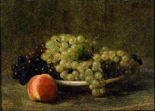 アンリ・ファンタン=ラトゥール【葡萄と桃のある静物】