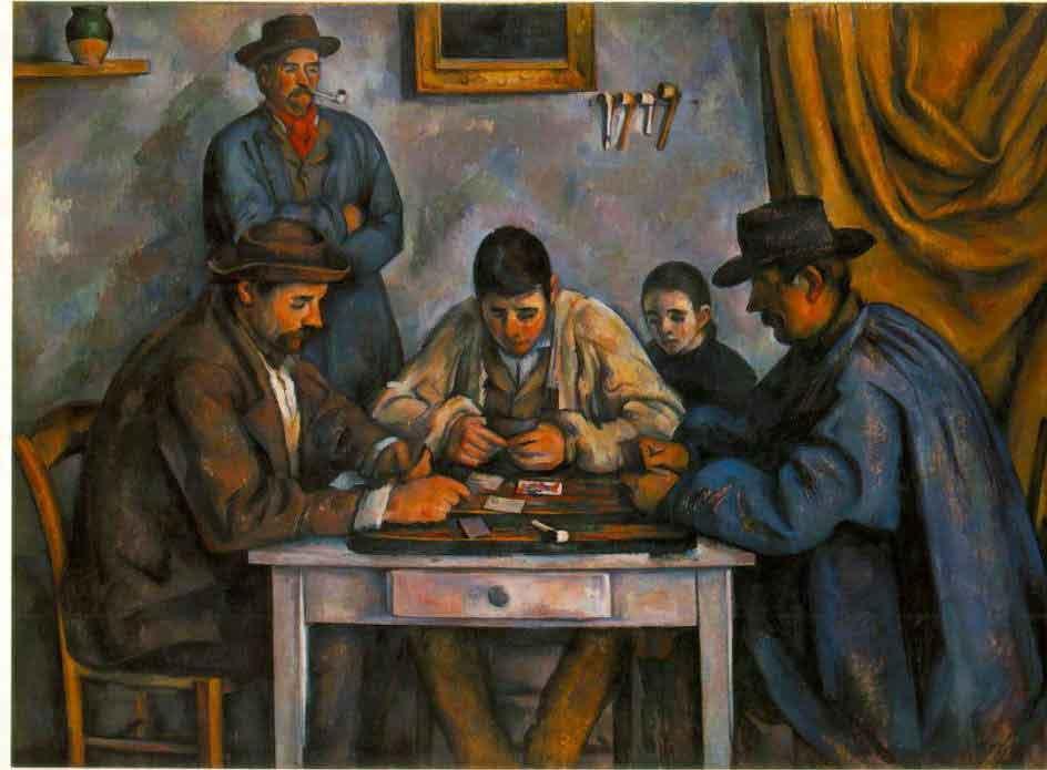 カード遊びをする男たち セザンヌ