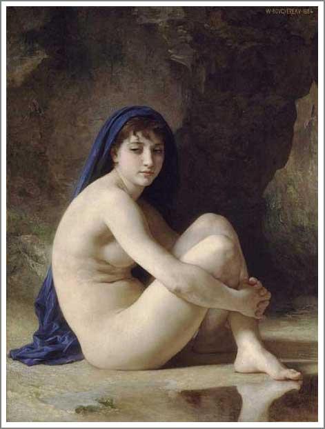 ブグロー【座る裸婦】