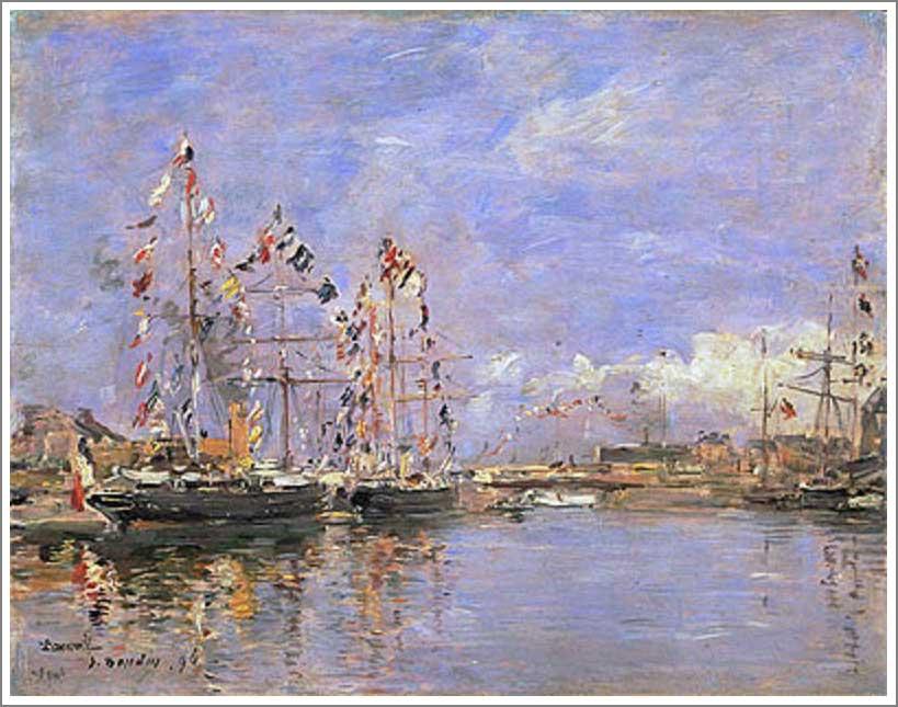 ブータン【ドービル、旗で飾られた港の船(Deauville, Flag-Decked Ships in the Inner Harbor)】