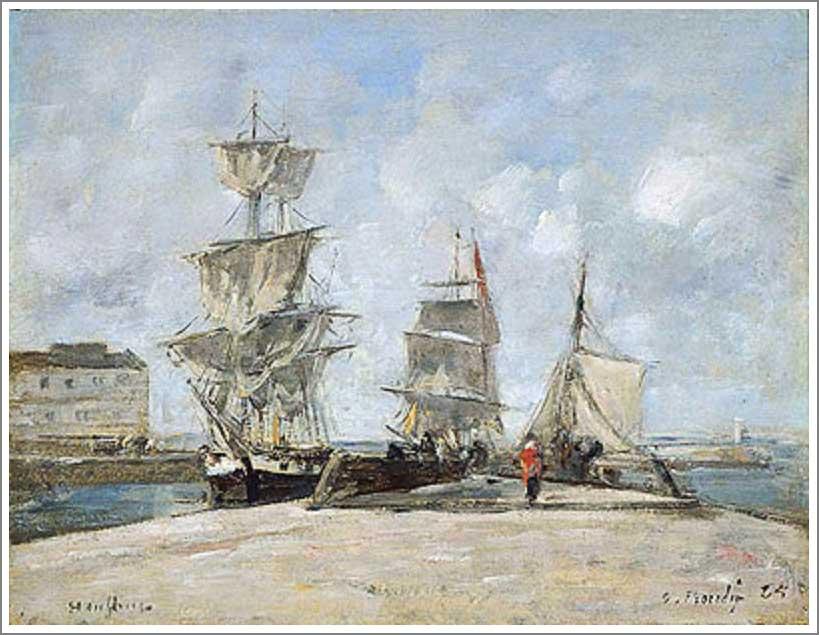 【オンフルールの港(Harbor at Honfleur)】