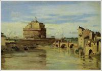 コロー【ローマのサン・タンジェロ城とテベレ川】