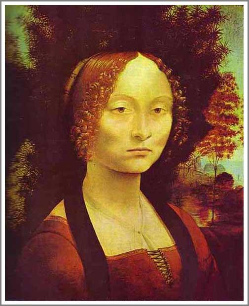 ジネーヴラ・デ・ベンチの肖像 ダヴィンチ アート名画館