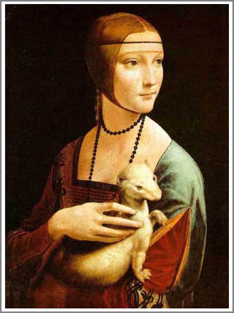 白貂を抱く貴婦人 アート名画館 ダヴィンチ