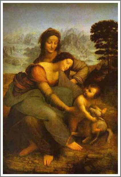 聖アンナと聖母子 アート名画館 ダヴィンチ