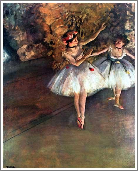 舞台の二人の踊り子 ドガ アート名画館