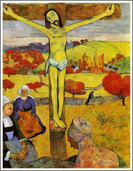 黄色いキリスト ゴーギャン