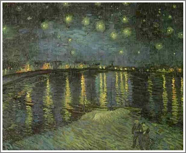 ゴッホ【ローヌ河の月明かり】