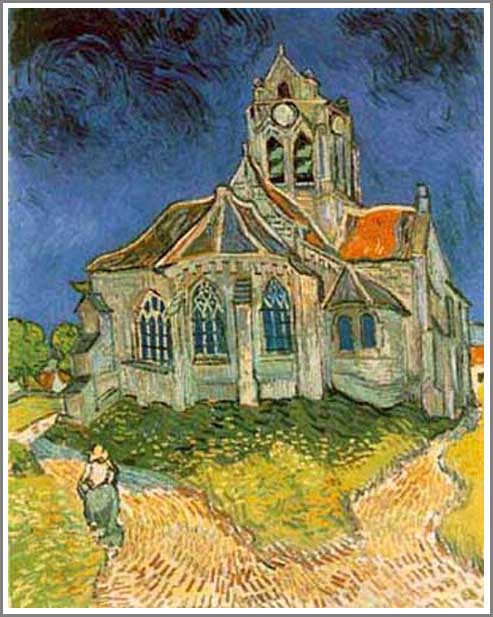 オーヴェールの教会 ゴッホ
