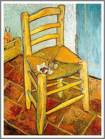 【パイプを置いたゴッホの椅子】ゴッホ