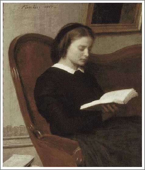 読書をする女
