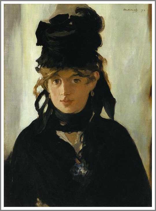 ベルト・モリゾの肖像 アート名画館 マネ