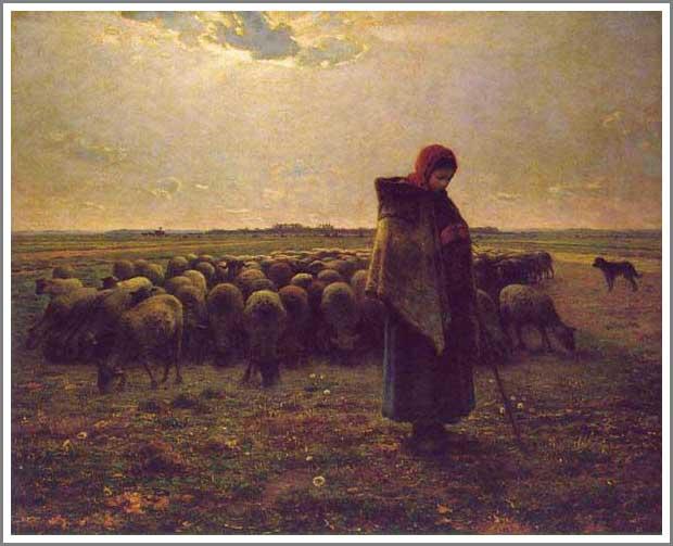 羊飼いの少女 ミレー
