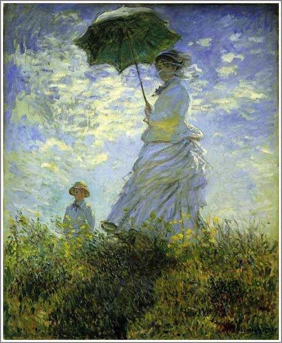 日傘をさす女 妻カミーユ モネ