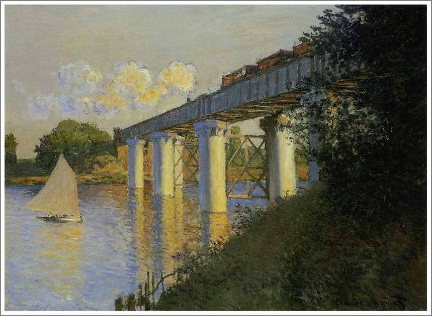 アルジャントゥーユの鉄道橋 モネ