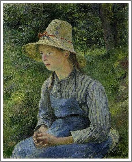帽子を被った農家の娘 ピサロ